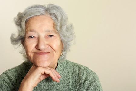 tercera edad: Retrato mayor Foto de archivo