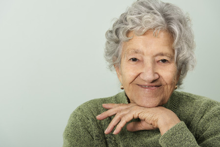 aging woman: Senior lady portrait Stock Photo