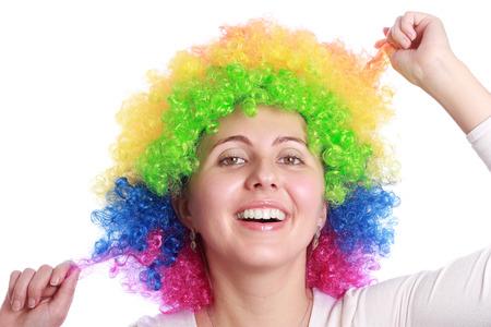 hair colour: Smiling with clown hair