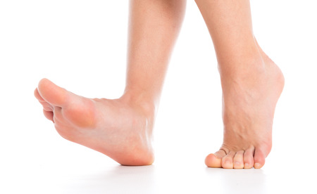 woman foot: Foot isolated