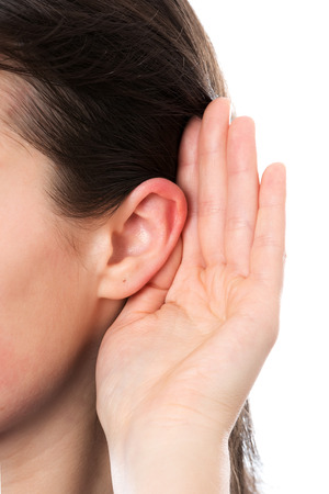Woman ear Standard-Bild