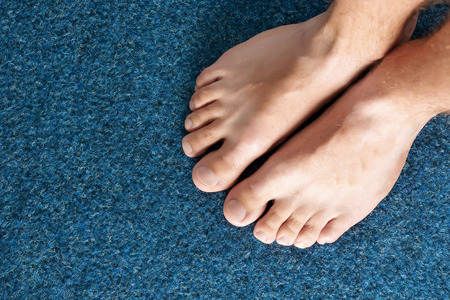 Closeup view of clean and healthy feet.
