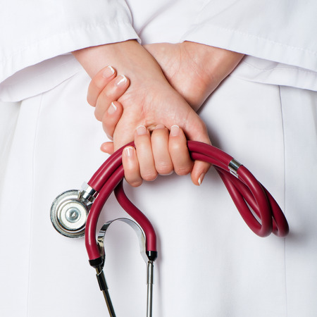 red stethoscope: Medical background with red stethoscope