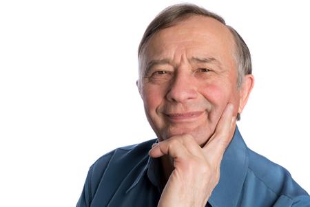 portrait man: Senior mature man male portrait smiling