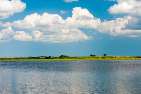 delta: A beautiful lake in Danube Delta, Romania Stock Photo
