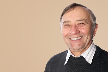 smiling businessman: Happy smiling senior man portrait Stock Photo