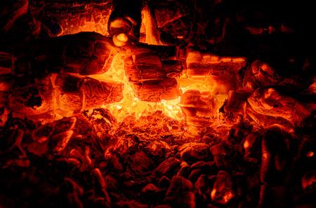 smolder: Hot coal smoldering