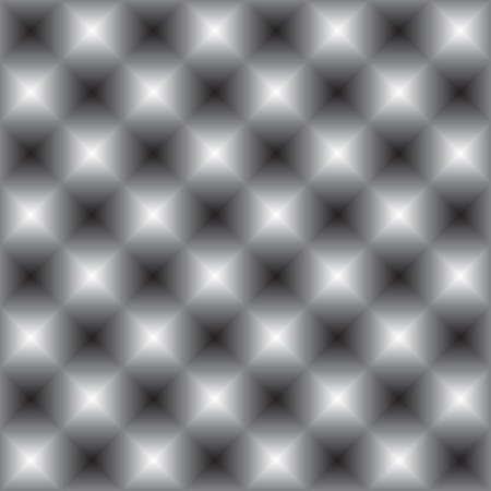 optical image: Abstract isometric seamless geometric  monochrome cell pattern, an optical illusion. Vector image for background.