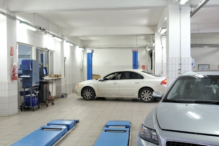 自動車修理サービス メカニックの一連の関連のイメージ 写真素材