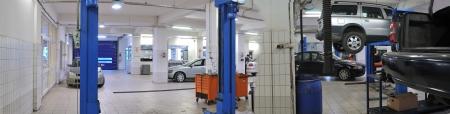 パノラマ車修理サービス 写真素材