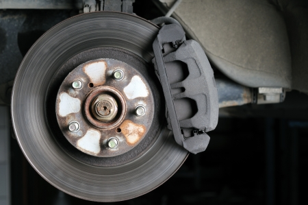Used brake drum Stock Photo