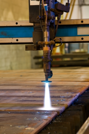 Cutting metal with CNC laser - a series of METAL INDUSTRY images  photo