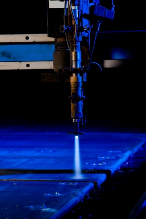 Cutting metal with CNC laser - a series of METAL INDUSTRY images Stock Photo - 14371418
