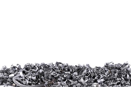 metallschrott: Stahlspäne aus CNC mit Platz für Ihren Text