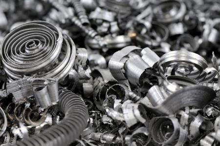 スクラップ金属の背景 - 金属産業イメージのシリーズ