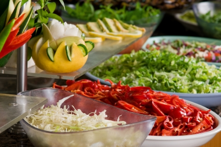 Buffet style food salad - a series of RESTAURANT images