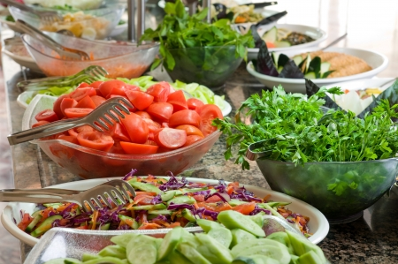 Buffet style salad - a series of RESTAURANT images