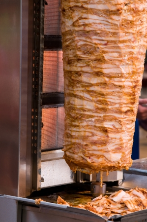 Traditional Turkish food doner kebab photo