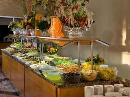 Catering food at a wedding party - a series of RESTAURANT images photo