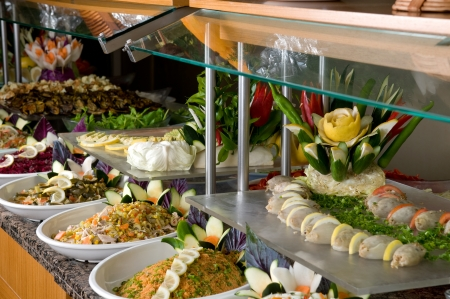 Catering food at a wedding party  photo