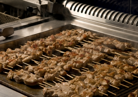 Skewers with shish kebab