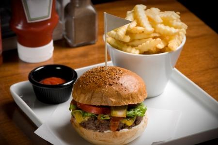 Cheeseburger hamburger isolated on white Stock Photo