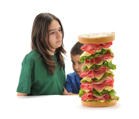 白で隔離食欲の欠如と 2 人の子供
