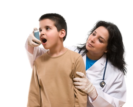 Medical doctor using oxygen mask on her child patient