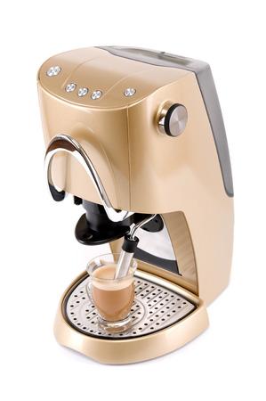 白で分離されたコーヒー メーカー 写真素材