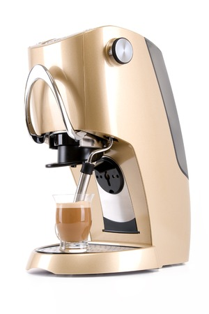 Making Espresso using Coffee Maker machine
