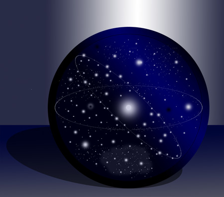 world thinking: All of our universe in a ball on some incomprehensible table.