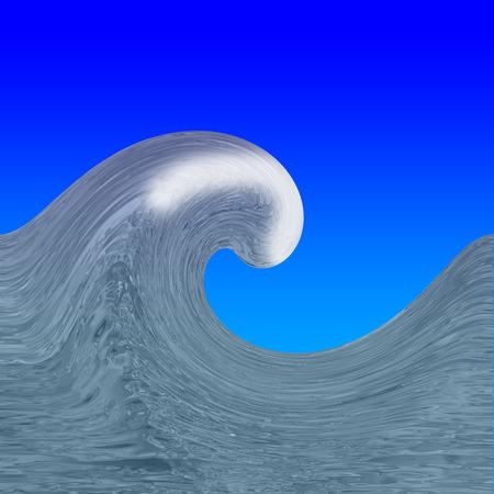 photorealism: Sea wave drawn close to photorealism.