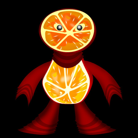 repast: This character is created from two orange circles and plant hands, plant feet .