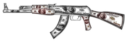ak 74: This is Russian firearms made of dollars.