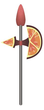 alabarda: Questo � alabarda fatta di fragole e fette d'arancia.