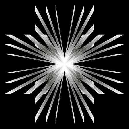 white lines: Ci sono un sacco di linee bianche che si intersecano al centro. Vettoriali