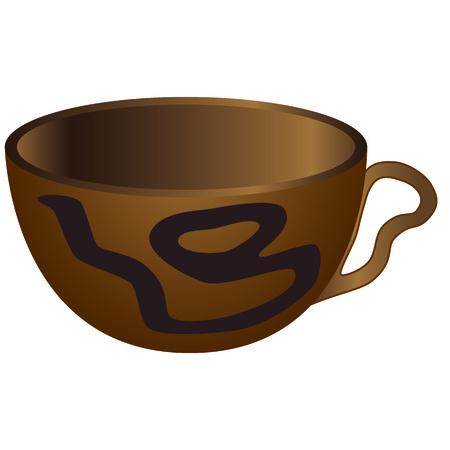 aborigine: It is wild cup. It has drawn a strange sign. Illustration