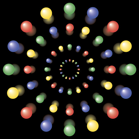 abstractions: This is the background. This is the colored balls lined up in a perspective.