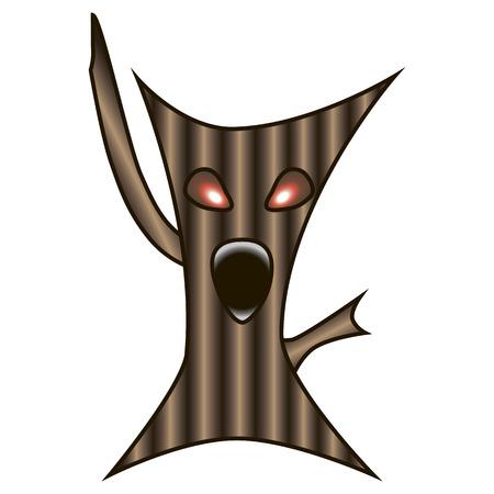 monstrous: Questo albero mostruosa � adatto per Halloween.