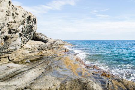 바위가 많은 해안