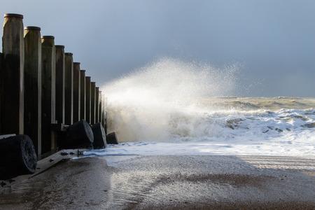 폭풍우가 치는 바다 스톡 콘텐츠