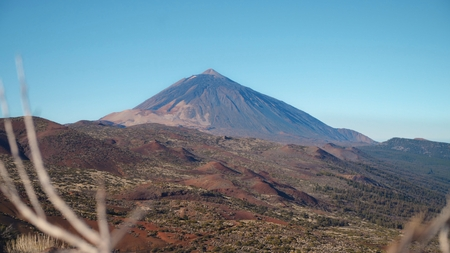 Volcanic landscape at the foot of the volcano Teide