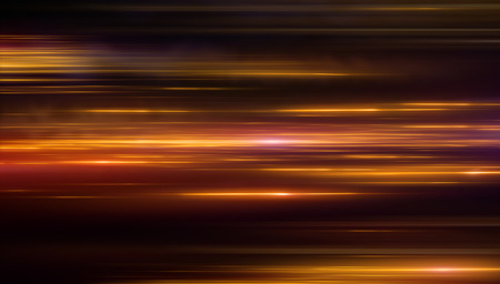 Lights and stripes moving fast over dark background. Orange backdrop from fast-moving glow particles.3d Illustartion  Stock fotó