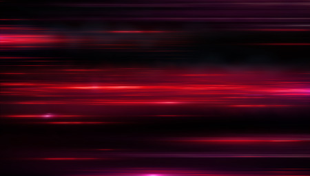 Lights and stripes moving fast over dark background. Red backdrop from fast-moving glow particles.3d Illustartion  Stock fotó