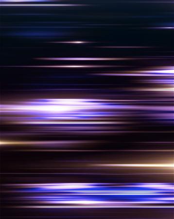 Digital light and stripes moving fast over dark background. 3d Illustration Stock fotó