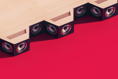 Stylish Music speakers isometric. 3d design with long shadow. 3d illustration Stock fotó