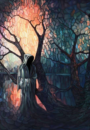 oclock: ,esoteric painting, series of,Messengers,