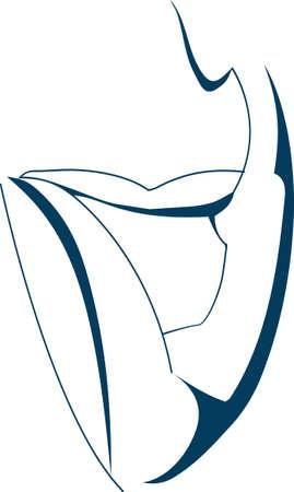 trabajo manual: vectores, dibujo de l�nea, la elegancia, la mano de