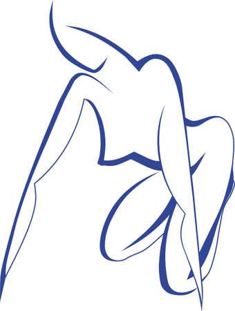trabajo manual: vector, dibujo de l�nea, la elegancia, trabajo manual  Vectores