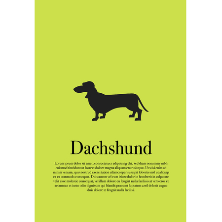 Dog dachshund silhouette poster vector illustration design  イラスト・ベクター素材